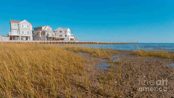 Coastal Marshes Photograph - Chalker Beach Cottages Old Saybrook Connecticut by Edward Fielding