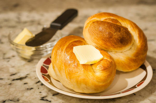 Photograph - Challah Rolls 2 by Andy Crawford