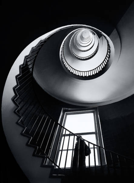 Stairwell Wall Art - Photograph - Challenge by Izidor Gasperlin