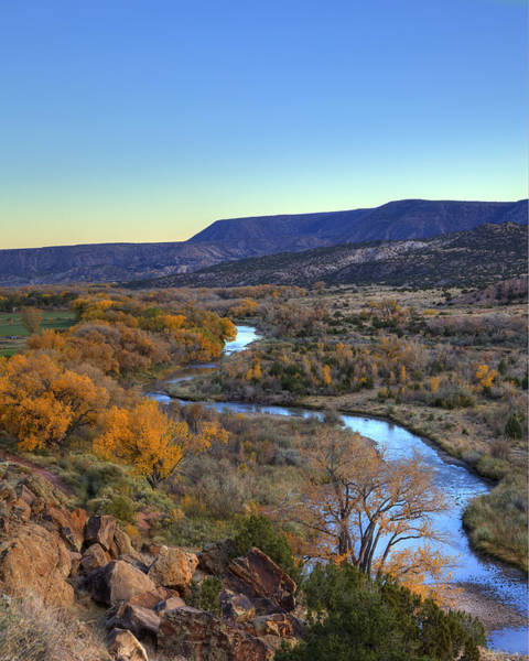 Chama Photograph - Chama River At Sunset by Alan Vance Ley