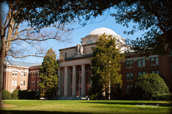 Photograph - Chambers Building Closeup - Davidson College by Paulette B Wright
