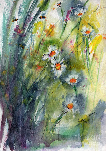 Painting - Chamomile Botanical Watercolor by Ginette Callaway