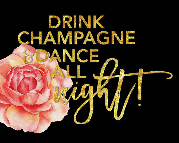 Champagne Painting - Champagne by Amy Cummings