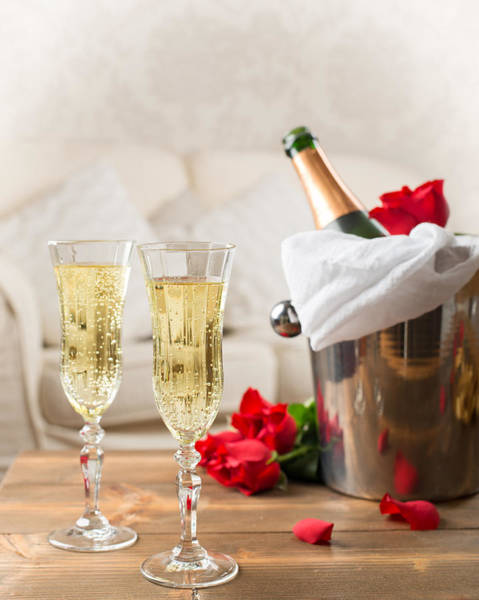 Wall Art - Photograph - Champagne And Ice Bucket by Amanda Elwell