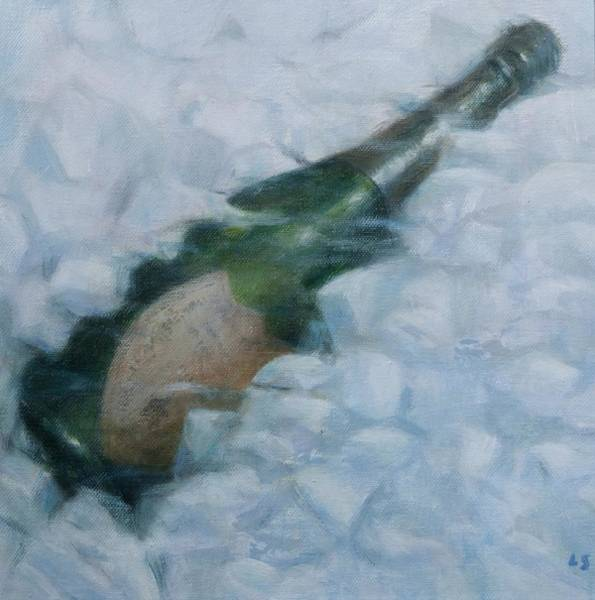 Champagne Painting - Champagne On Ice by Lincoln Seligman
