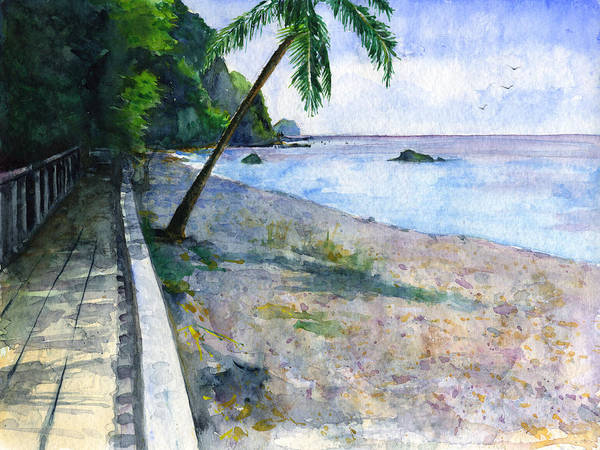 Wall Art - Painting - Champagne Snorkel Dominica by John D Benson