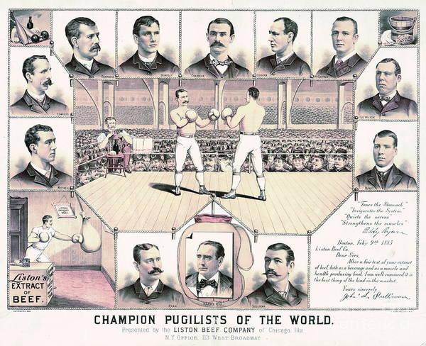 Endorsement Photograph - Champion Pugilists 1885 by Padre Art