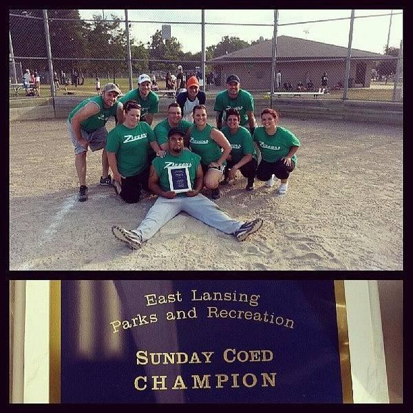 Champs!!! #champs #softball #winners Art Print
