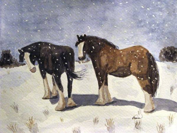 Draft Painting - Chance Of Flurries by Angela Davies