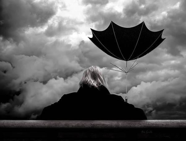 Photograph - Chance Of Rain   Broken Umbrella by Bob Orsillo