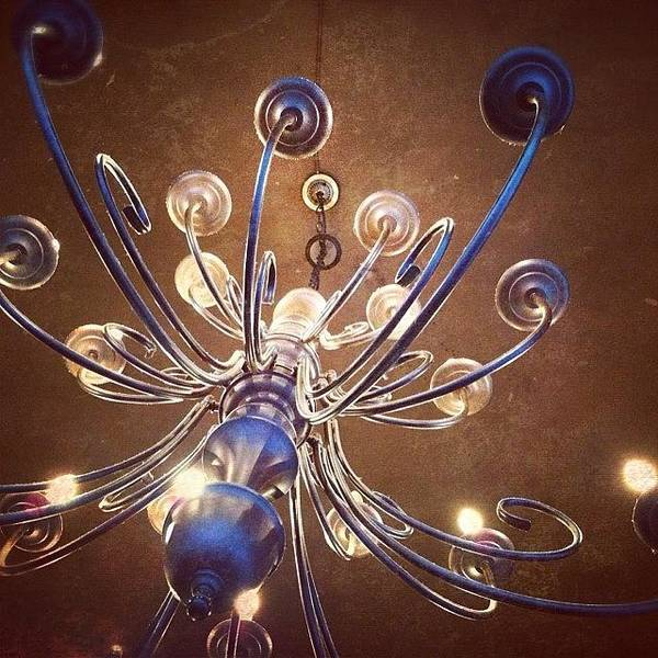 Chandelier In Blue Art Print