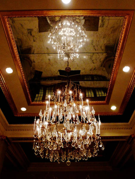 The Belvedere Photograph - Chandelier by Randi Kuhne