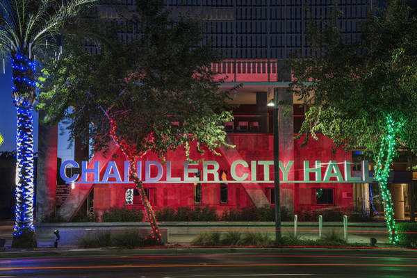 Chandler Photograph - Chandler Arizona City Hall by Dave Dilli