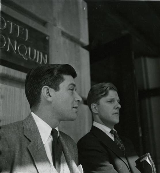 Chandler Photograph - Chandler Cowles Jr. And Efraim Zimbalist Jr by Richard Rutledge