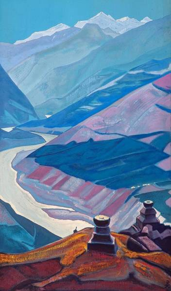 Nk Roerich Painting - Chandra-bhaga by Nicholas Roerich