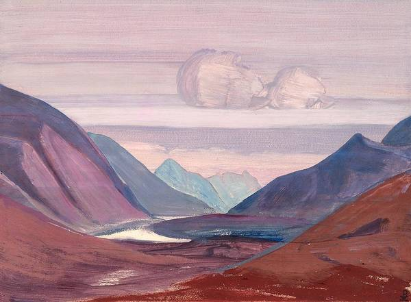 Nk Roerich Painting - Chandra River by Nicholas Roerich