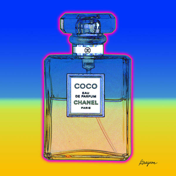 Painting - Chanel Bottle 1 by Gary Grayson