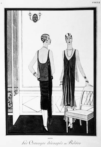 Flappers Drawing - Chanel Illustration, 1926 by Granger