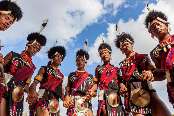 Traditional Clothing Photograph - Chang Tribe Dancing, Hornbill Festival by Peter Adams