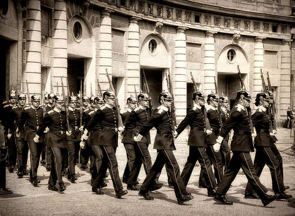 Photograph - Change Of Guard - Royal Palace - Stockholm - Sweden by Photography  By Sai