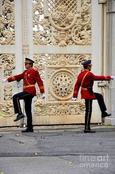 Photograph - Change Of Guards Ceremony Dolmabahce Istanbul Turkey by Imran Ahmed