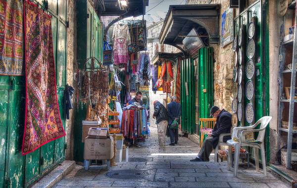 Changing Colors Of The Market Art Print