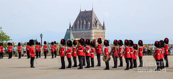 Sentinel Photograph - Changing Of The Guard The Citadel Quebec City by Edward Fielding
