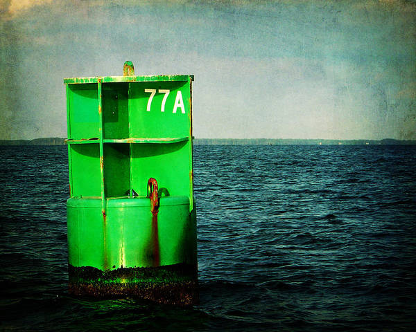 Photograph - Channel Marker 77a by Rebecca Sherman