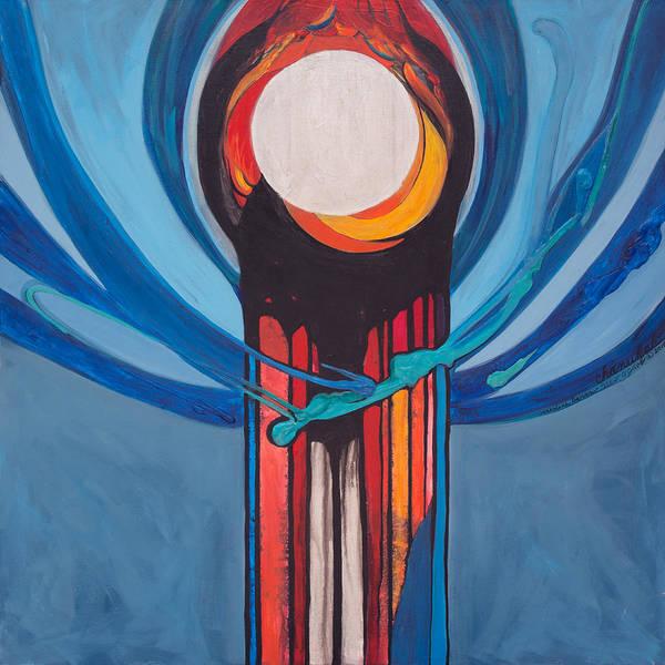 Painting - Chanukah Nes Gadol by Marlene Burns