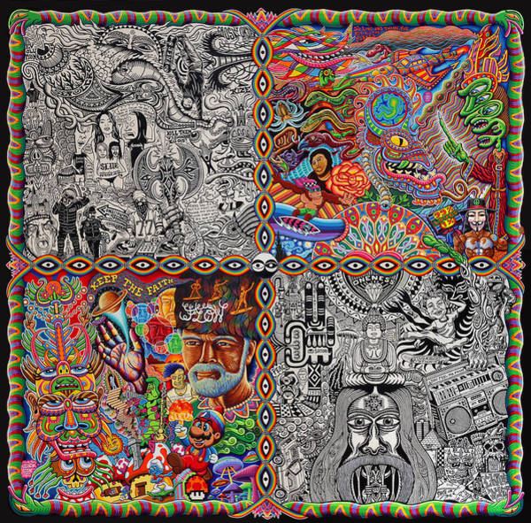 Trippy Wall Art - Painting - Chaos Culture Jam by Chris Dyer