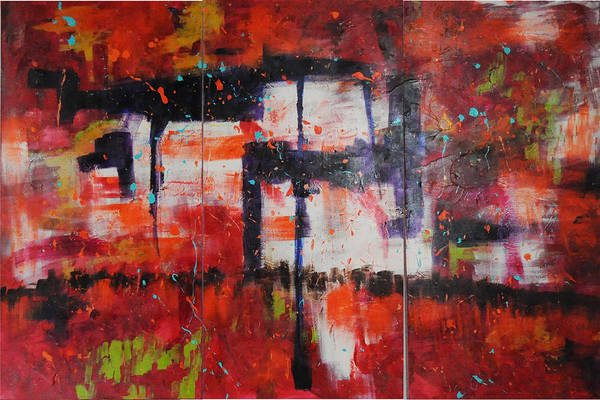 Wall Art - Painting - Chaos On A Sunday Afternoon by Paulette B Wright