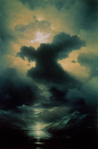 Creationism Wall Art - Painting - Chaos The Creation by Ivan Konstantinovich Aivazovsky