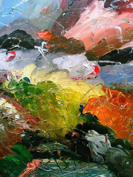 Painting - Chaotic Composition by Ray Khalife