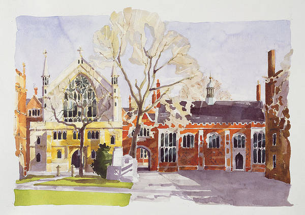 Chapels Painting - Chapel And Hall  Lincoln's Inn by Annabel Wilson
