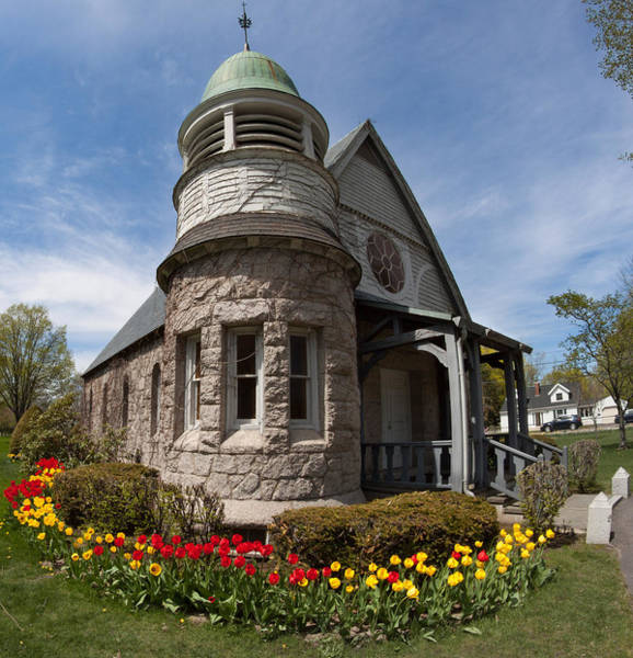 Photograph - Chapel At Laurel Hill Cemetery by Kirkodd Photography Of New England