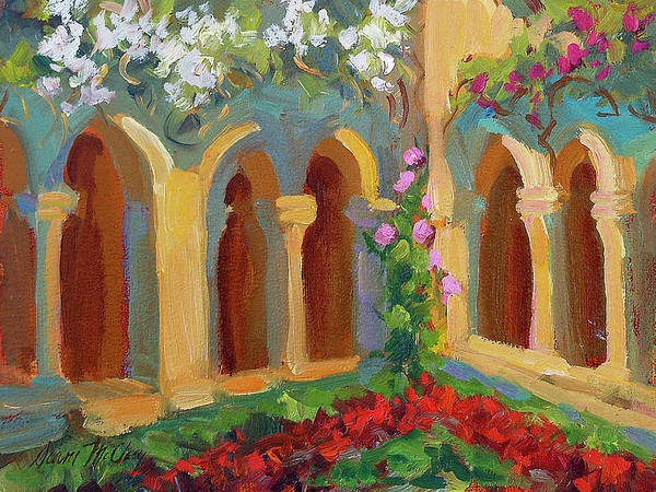 Chapels Painting - Chapel At St. Remy by Diane McClary