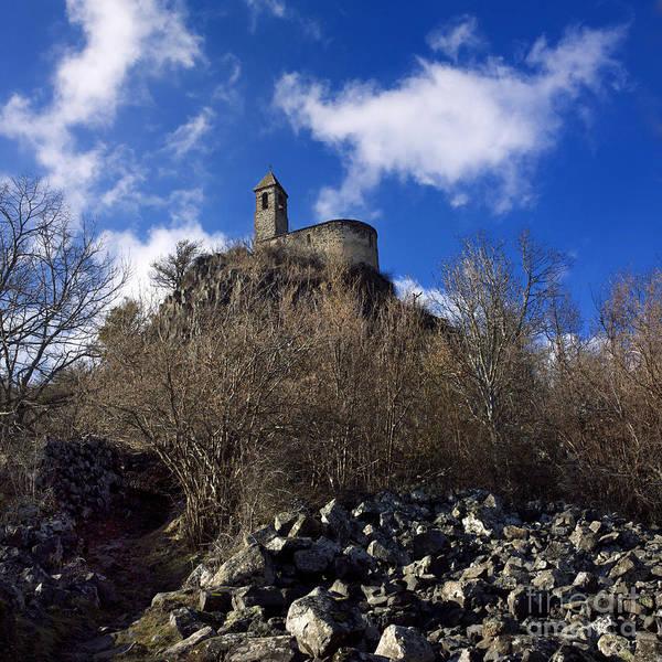 Bell Rock Photograph - Chapel. Auvergne. France by Bernard Jaubert