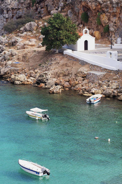 Dodecanese Photograph - Chapel In St Pauls Bay In Lindos by Martin Child
