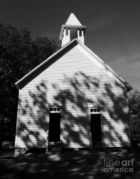 Photograph - Chapel In The Woods Bw by Mel Steinhauer