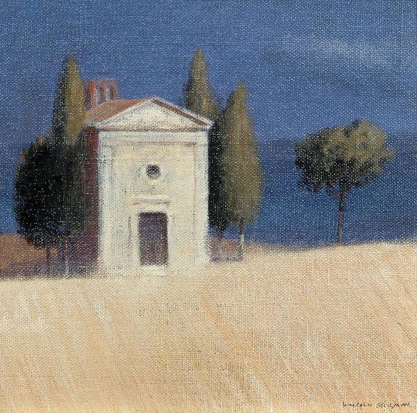 Sienna Photograph - Chapel Near Pienza II, 2012 Acrylic On Canvas by Lincoln Seligman