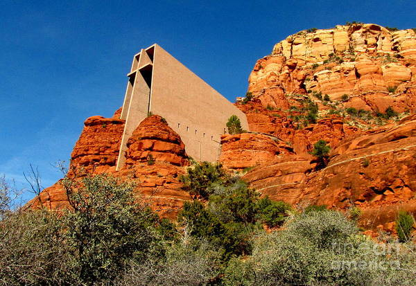 Red Rocks Of Sedona Photograph - Chapel Of The Holy Cross 2 by Marilyn Smith