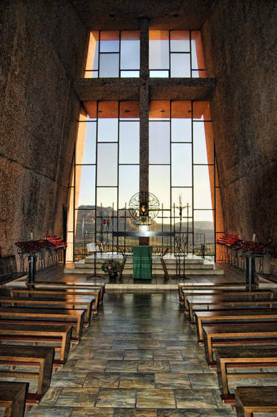 Northern Arizona Wall Art - Photograph - Chapel Of The Holy Cross Interior by Jon Berghoff
