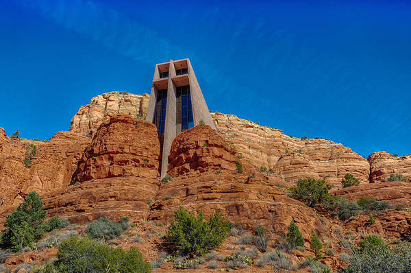Photograph - Chapel Of The Holy Cross Sedona Az Front by Scott Campbell