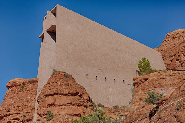 Photograph - Chapel Of The Holy Cross Sedona Az Side by Scott Campbell