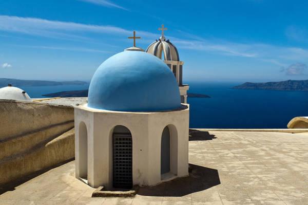 Photograph - Chapel On Santorini by Gary Eason