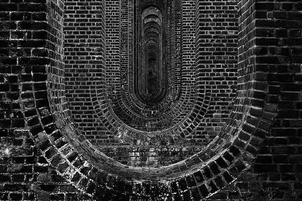 Blackandwhite Photograph - Chapel Viaduct Essex Uk by Martin Newman