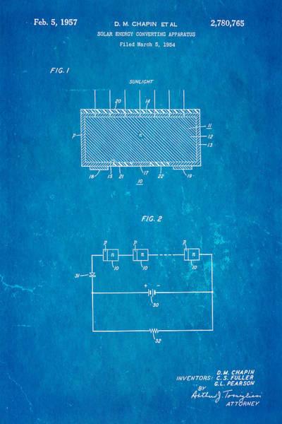 Wall Art - Photograph - Chapin Solar Cell Patent Art 1957 Blueprint by Ian Monk