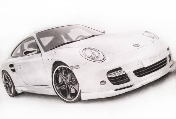 Singh Drawing - Char-car by Atinderpal Singh