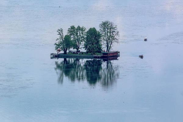Dal Lake Photograph - Char Chinaar by Pk Gupta