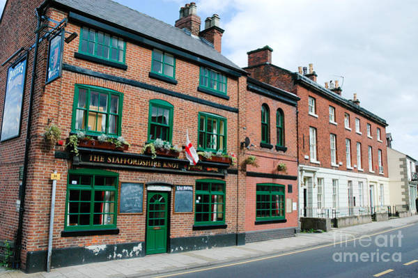 Photograph - Characteristic Pub And Georgian Terraces In Small Town England by David Hill
